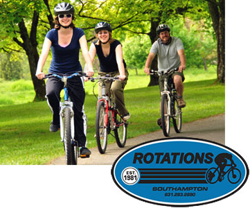 Rotations Bicycle Center in the Southhamptons has the best bicycle rentals.
