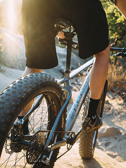 We have the Specialized Fatboy for rent—fat tires here!