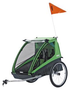 Take the kids along for the bike ride in a Thule Trailer.