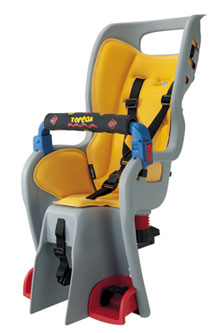 Junior can enjoy the ride right there with you with a Topeak child seat